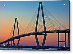 Cooper River Bridge Sunset Acrylic Print
