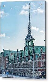 Acrylic Print featuring the photograph Copenhagen Borsen Stock Exchange Building by Antony McAulay