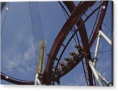 Copenhagen, Denmark, Rollercoaster Ride Acrylic Print by Keenpress