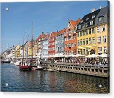 Copenhagen Harbor Acrylic Print by Mary Lane