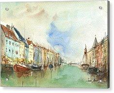 Copenhagen Harbour Acrylic Print