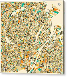 Copenhagen Map Acrylic Print