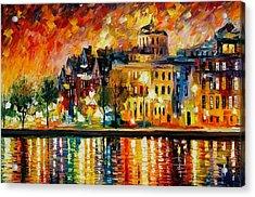 Copenhagen Original Oil Painting  Acrylic Print by Leonid Afremov