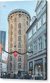 Acrylic Print featuring the photograph Copenhagen Round Tower Street View by Antony McAulay
