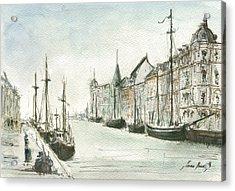 Copenhagen With Snow Acrylic Print