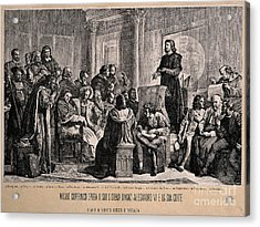 Copernicus Explaining His Planetary Acrylic Print by Wellcome Images