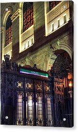 Acrylic Print featuring the photograph Copley Square T Stop - Boston by Joann Vitali