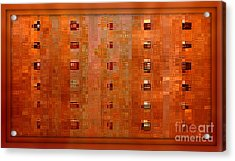 Copper Abstract Acrylic Print by Carol Groenen