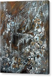 Acrylic Print featuring the painting Copper And Mica by Joanne Smoley