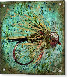 Copper Beadhead Acrylic Print