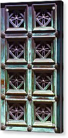 Copper Door Acrylic Print