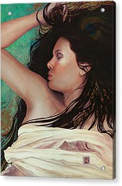 Acrylic Print featuring the painting Copper Dreamer by Ragen Mendenhall