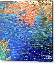 Copper Flow Acrylic Print