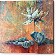 Copper Lotus Acrylic Print