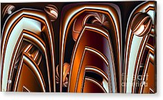 Copper Shields Acrylic Print by Ron Bissett