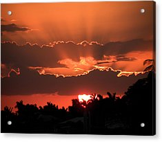 Copper Sunset Acrylic Print