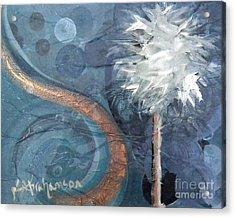 Copper Swirl Horizon Palm Acrylic Print
