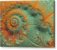 Copper Verdigris Acrylic Print