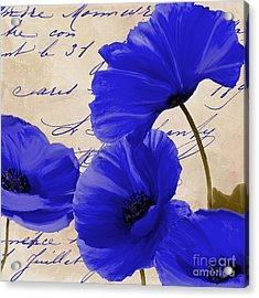 Coquelicots Bleue Acrylic Print