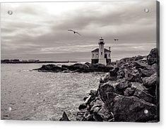 Coquille Lighthouse Oregon  Acrylic Print