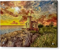 Coquille River Lighthouse 4 Acrylic Print