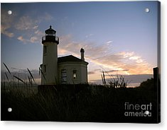 Coquille River Lighthouse At Sunset Acrylic Print