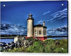 Acrylic Print featuring the photograph Coquille River Lighthouse by Thom Zehrfeld