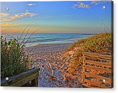 Coquina Beach By H H Photography Of Florida  Acrylic Print by HH Photography of Florida