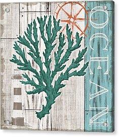 Coral Azul Iv Acrylic Print by Paul Brent