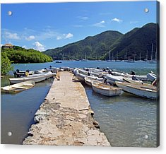 Coral Bay Dinghy Dock Acrylic Print