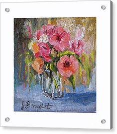 Acrylic Print featuring the painting Coral Bouquet by Jennifer Beaudet