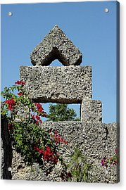 Coral Castle For Love Acrylic Print by Shirley Heyn