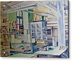 Corcoran School Of Art Ceramic Studio Back In The Days Acrylic Print
