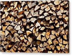 Cord Wood Texture Acrylic Print