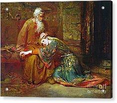 Cordelia Comforting Her Father Acrylic Print
