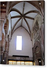 Cordoba Ancient High Ceiling Church Spain Acrylic Print by John Shiron