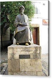 Cordoba Maimonides Statue Or Moses Ben Maimon Aka Rambam Jewish Quarter Viii Spain Acrylic Print