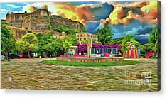 Acrylic Print featuring the photograph Corfu 32 - Near The Fortress by Leigh Kemp