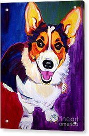 Corgi - Taste The Rainbow Acrylic Print