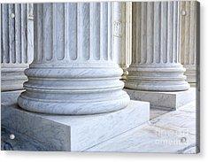 Corinthian Columns, United States Supreme Court, Washington Dc Acrylic Print