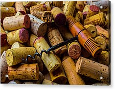 Corks And Corkscrew Acrylic Print by Garry Gay