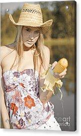 Corn Cob Cowgirl Acrylic Print by Jorgo Photography - Wall Art Gallery