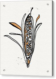 corn- contemporary art by Linda Woods Acrylic Print
