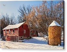 Corn Cribbed Barn Acrylic Print