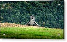 Corn Field Silo Acrylic Print