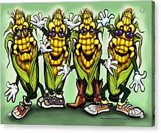 Corn Party Acrylic Print by Kevin Middleton