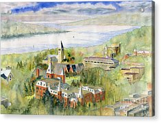 Cornell University Acrylic Print by Melly Terpening