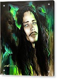 Chris Cornell - ' Cornell's Garden ' Acrylic Print
