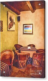 Corner Booth  ... Acrylic Print by Chuck Caramella