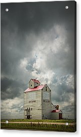 Corner Gas Grain Elevator In Dog River Acrylic Print by Randall Nyhof